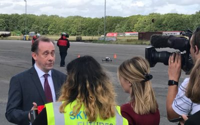 Aviation Minister launches new UK drone regulations at Sky-Futures Training Academy