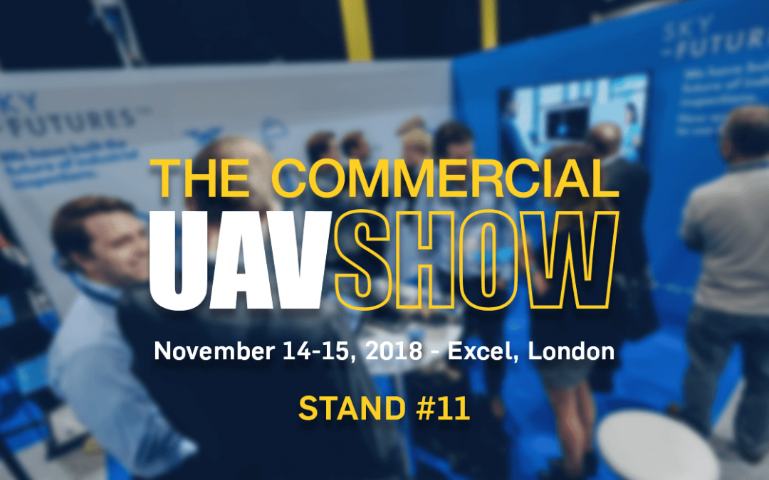 Sky-Futures speak and exhibit at the Commercial UAV Show 2018